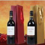 Preiswerter heißer stempelnder prägender fantastisches Wein-Flaschen-Geschenk-Papierbeutel/kundenspezifisches Drucken aufbereiteter Papr Geschenk-Beutel