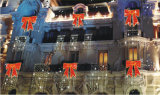 Lumière féerique de guirlande de DEL de Noël de décoration de chaîne de caractères extérieure d'usager