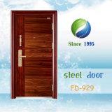 La Chine la plus neuve développent et conçoivent la porte en acier simple de garantie (FD-929)