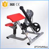 商業体操の二頭筋のカール機械か版付体操の二頭筋のカール