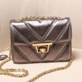 Borsa Emg4727 delle donne di stile della geometria del cuoio genuino della signora Handbag del progettista