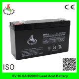 bateria acidificada ao chumbo recarregável do AGM de 6V 10ah Mf VRLA para o equilibrador elétrico