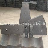 Alto piatto della griglia del pezzo di ricambio del frantoio dell'acciaio di manganese
