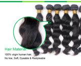 100% unverarbeitete natürliche schwarze menschliche Jungfrau-malaysischer Haar-Einschlagfaden