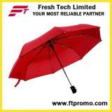 De Promotie Open/Gesloten Auto van de douane Vouwend Paraplu met Embleem