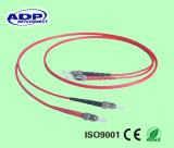 1310 fibra óptica/Patchcord/ligação em ponte do Sc-Sc do PVC da única modalidade 3.0mm