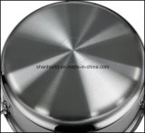 3 het Lichaam van de vouw Al Bekleed Vastgesteld in drievoud Keukengerei van het Roestvrij staal Cookware