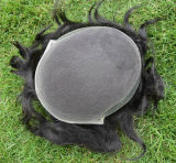Main-Marée 100% de Toupee de cheveux humains de Remy pour l'homme