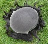 Manのための100%年のRemy Human Hair Toupee手Tide