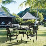 Mobilia esterna anodizzata del giardino del patio di alluminio che pranza le presidenze per quattro persone