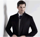 Top-Quality Men's Spring / Autumn Slim Woolen Long-Pattern Fashion Business Coat