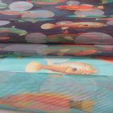 Tela rayada de la alineada de la materia textil del hogar de la ropa del Organza con diseño de la impresión