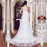 Simple Lace Real Photos Mermaid Wedding Dresses (TM-MS008)