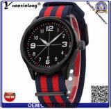 As forças armadas do tipo do luxo Yxl-866 2016 prestam atenção ao pulso de disparo do Analog de quartzo dos homens cobrir relógios dos esportes do homem do relógio da lona