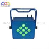 9*15W 5in1 Rgbaw 배터리 전원을 사용하는 무선 LED 동위 빛