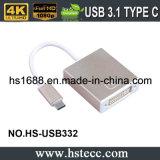 USB 2016 de la velocidad de la cena 3.1 cm al adaptador del Active de DVI