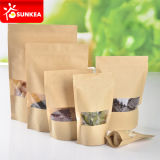 Brown Kraft Paper Stand su Tea Pouch con Window