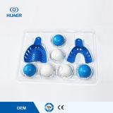 Materiale dentale stabilito del silicone dell'impressione di bianco blu dentale del mastice
