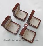 Kundenspezifischer Brown-hölzerne Halsketten-hängender Geschenk-Kasten
