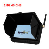 "5"" 5.8 GHz Pantalla LCD Wireless Mini 40 caps Fpv DVR con Smart parasol"