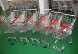 Покрынная кромом поверхностная регулируя вагонетка супермаркета покупкы