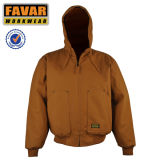Canvas Duck Shell acolchoado para flame Retardant Twill Lining Workwear Jacket