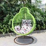 فناء ترويجيّ خارجيّة [ويكر] أرجوحة كرسي تثبيت مع وسادة