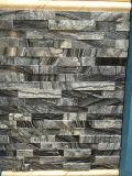 Естественным бежевым мраморный камень культуры штабелированный камнем в Китае
