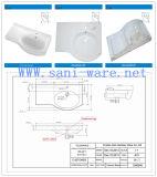 Gootsteen van de Was van het Kabinet van de Badkamers van Cupc van de goede Kwaliteit de Ceramische (SN6046)