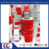 Rot und White PVC Reflective Tape mit Crystal Lattice