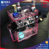 아크릴 립스틱 진열대를 자전하는 Arrivial 새로운 Tranparent 분홍색