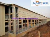 ニワトリ小屋のAuotomacticの家畜装置が付いているプレハブの家の構築