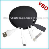 Heißes verkaufensilikon 4 in 1 USB-aufladenkabel