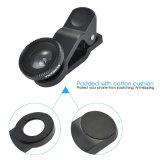 3 en 1 lente granangular de la lente del Pescado-Ojo kits micro de la lente de cámara de la lente