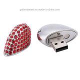 El mejor mecanismo impulsor del flash del USB del corazón de la joyería del precio 4GB para la promoción