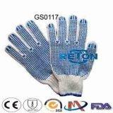 Baumwolle punktierte Handschuhe/punktierte Gloves/Polycotton Gloves/Safety Handschuhe der Baumwollepvc