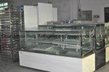 Refrigerador quadrado comercial da exposição do bolo de mármore