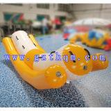 Bateau de banane gonflable/eau gonflable double de rangée de vol bateau de poissons