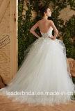 Vestido de casamento feito-à-medida nupcial H847 de Tulle do vestido de esfera da flora Strapless