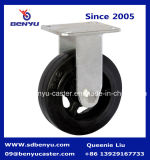 HochleistungsRigid Caster Mold auf Rubber Wheel in Black