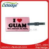 Tag relativos à promoção plásticos da bagagem do PVC da alta qualidade