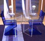 주문을 받아서 만들어진 공장 직매 우아한 아크릴 식탁 및 의자