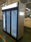 Supermarkt-Flaschen-Getränk-Bildschirmanzeige-Kühlvorrichtung mit dreifache Glastür-Handelskühlraum mit Cer, CB