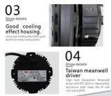 A recolocação Halide 200W 150W 100W IP65 do metal do diodo emissor de luz 400W Waterproof o Luminaire do diodo emissor de luz