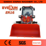 Everun 상표 1.6 톤 작은 바퀴 로더 중국 Manuactuer