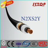 Cabo de cobre de N2xs2y, 20.3/35 quilovolts XLPE isolado, fio de aço liso blindado, cabo Single-Core com condutor de cobre