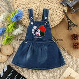Robe d'enfants de robe de jeans de denim de bébés d'impression de mode belle