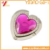 Gancio a cristallo della borsa di figura su ordinazione del cuore (YB-LY-pH-01)