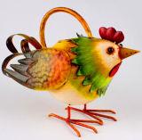ファッションモデルの骨董品の鉄の雄ん鶏の水まき缶