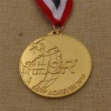 Medalla corriente del recuerdo del deporte de encargo de la concesión de la fábrica con la cinta de encargo